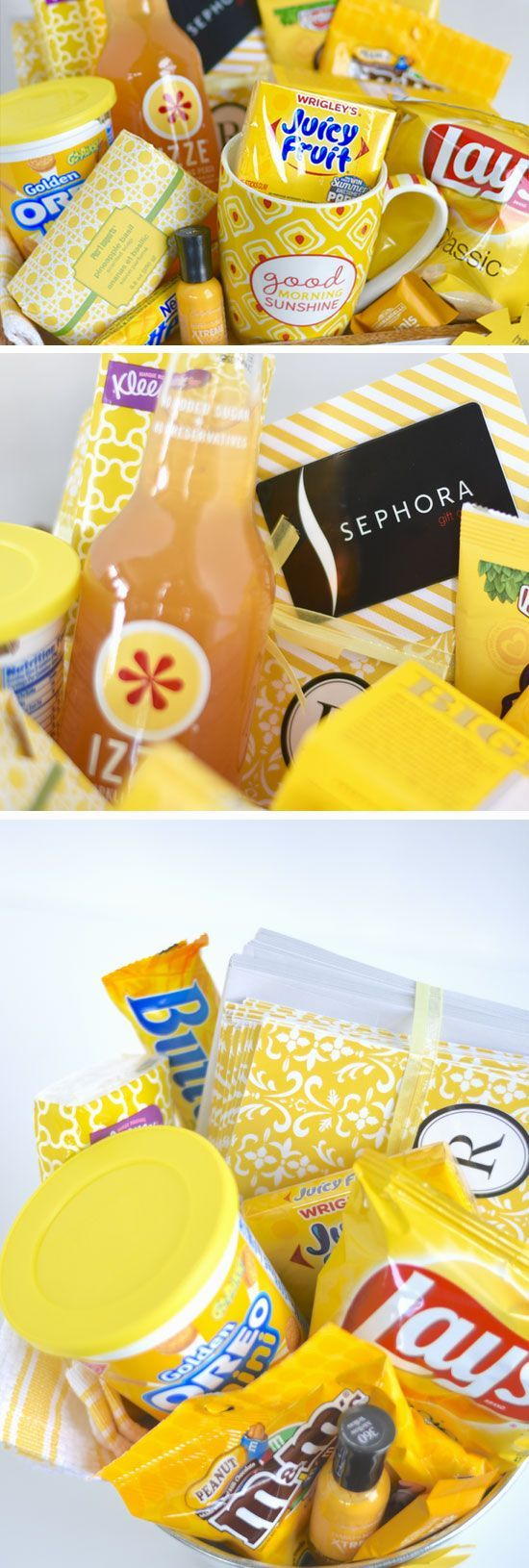 Box of Sunshine   Click Pic for 21 DIY Christmas Baskets for Teens   Easy Gift Ideas for Teen Girls