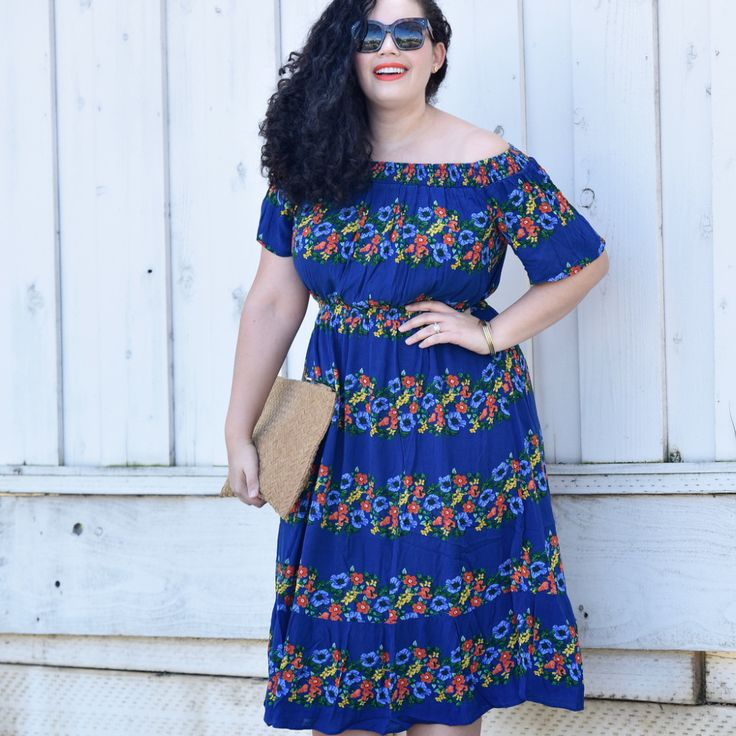 This Dress Makes a Strong Case for Colorful Florals via @GirlwithCurves