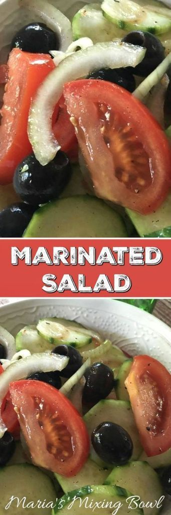 Marinated Salad - A delicious easy to make side dish that goes perfectly with everything! A great summertime dish but so good you will want it all year long. #side #salad #delicious #easy #favorite