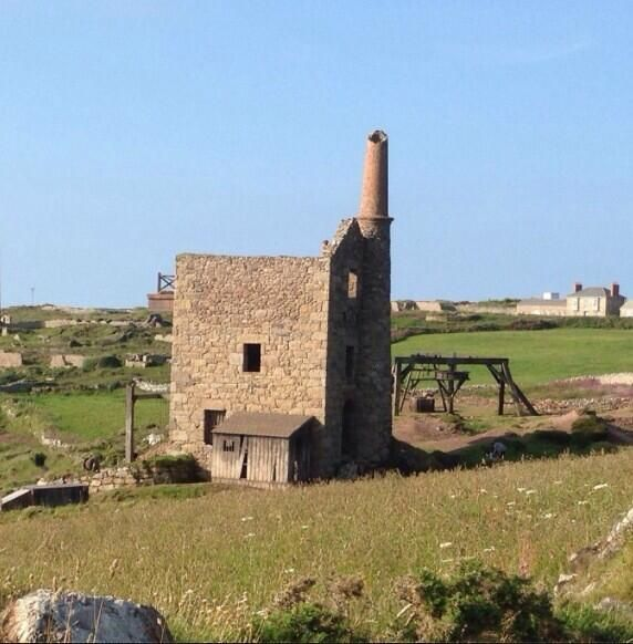 Via  Poldarked @Poldarked  Super pic showing horse whim and engine house additions to Wheal Owles. PIc by Matthew Hulse facebook.com/mhulse