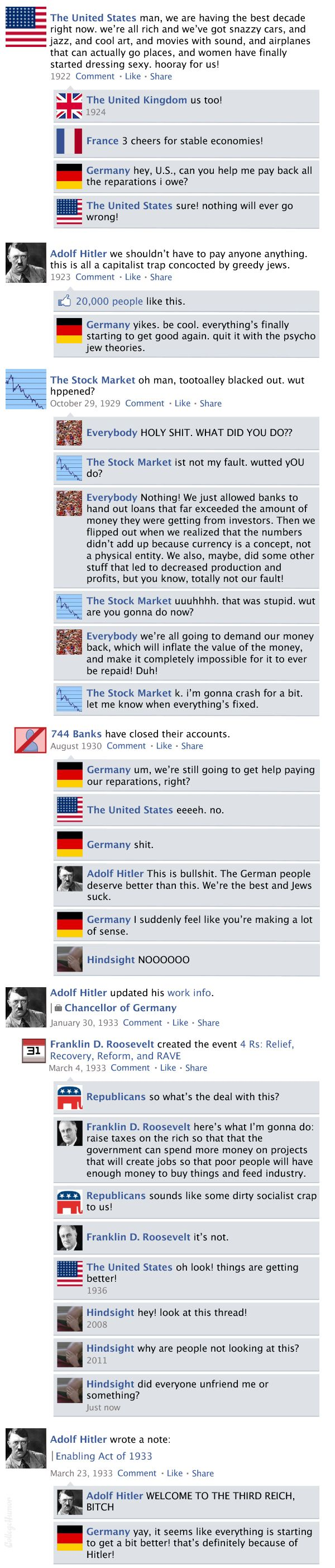 Facebook News Feed History of the World > Great Depression