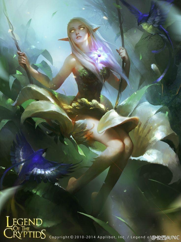 Artist: Lin Wenjun aka junc - Title: Unknown - Card: Bewitching Cylphon