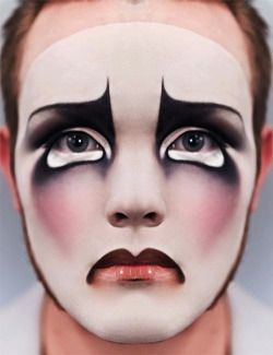 clown schminke frau clown makeup maquillage clown. Black Bedroom Furniture Sets. Home Design Ideas