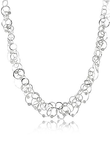Scintille Anniversary - Diamond 18K White Gold Chain Necklace #DesignerHandbags #DesignerShoes