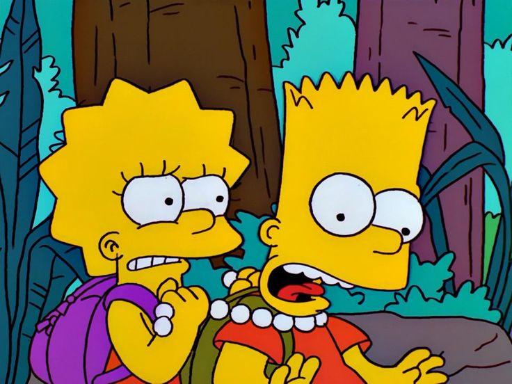 Pin on Bart and lisa simpson