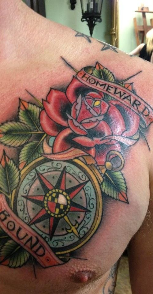 17 Best images about windrose & compass rose tattoos on Pinterest