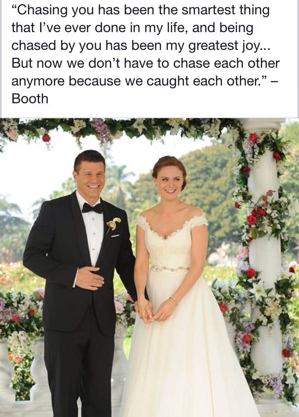 Bones wedding- I'm almost done with season two.. I'm patiently waiting for this to happen..