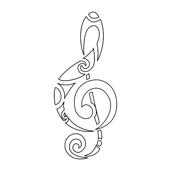 love music notes coloring pages | tribal coloring pages - Google Search | Note tattoo ...