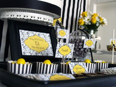 Juneberry Lane Black White Yellow Vintage With A Fresh Twist