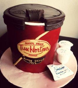 tim hortons coffee cup cake