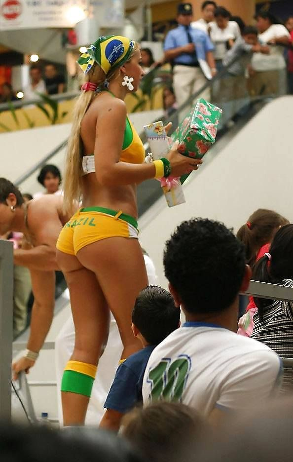 Beautiful Soccer Fan Brazil