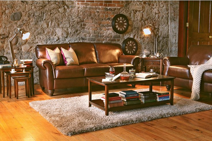 Salgari 3 Seater Leather Sofa from Harvey Norman Ireland