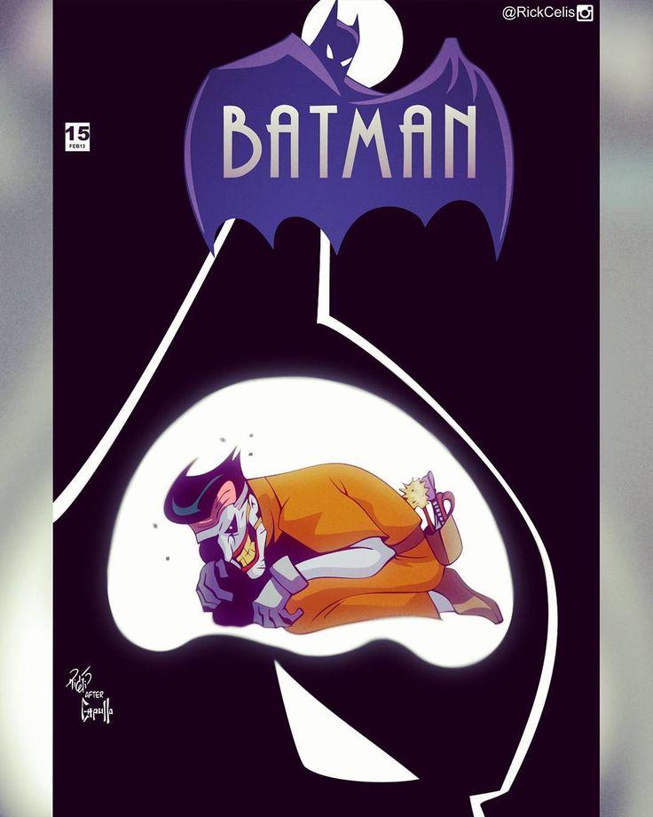 After #GregCapullo and @ssnyder1835 BATMAN V2 15 #New52BamanTAS- #BringbackBatmanTAS Batman TAS + Capullo homage  #Batman #btas #New52 #BatmanTas #rebirth #PaulDini #BruceTimm #Joker #rickcelis