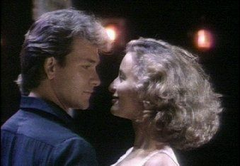 Patrick Swayzee and Jennifer Grey