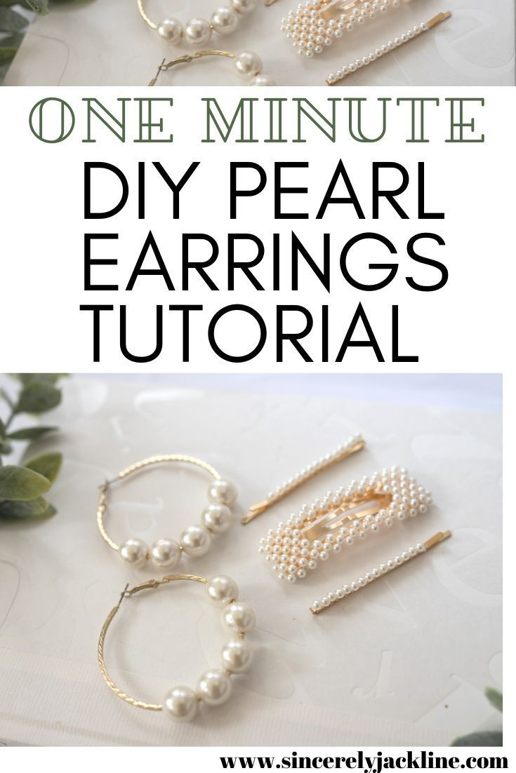 Love Pearl Fashion Accessories Head Over To The Blog To Read How You Can Make These Diy Pearl Earrings In One Minute Diy E Pearls Diy Pearls Earring Tutorial