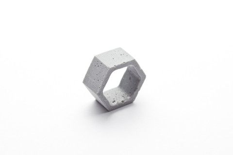 Cement Outline Ring - Hexagon