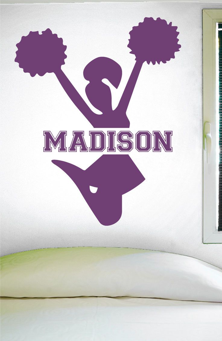 1000 ideas about cheerleading signs on pinterest run for Cheerleader wall mural