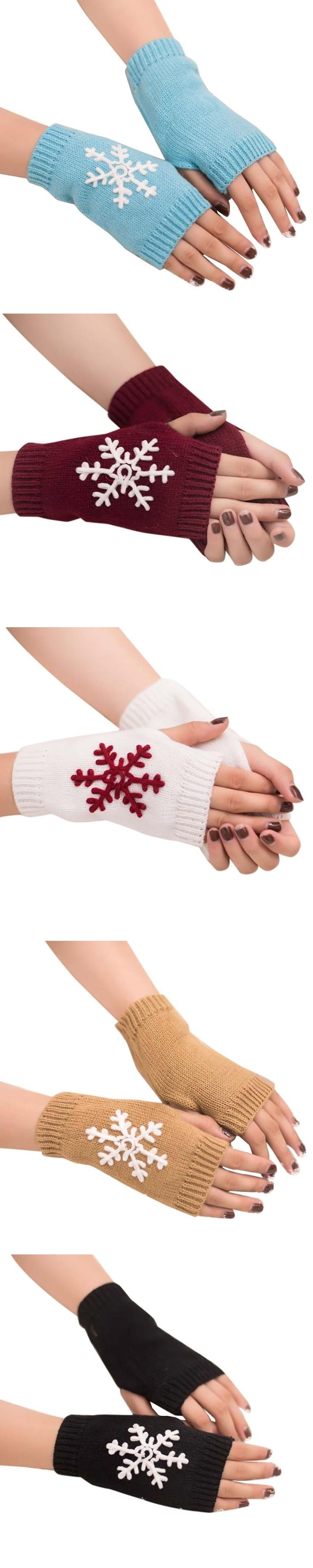 Women Girl Knitted Arm Fingerless Warm Winter Gloves Soft Warm Mittens Fingerless Gloves without fingers Eldiven Guantes mujer#1