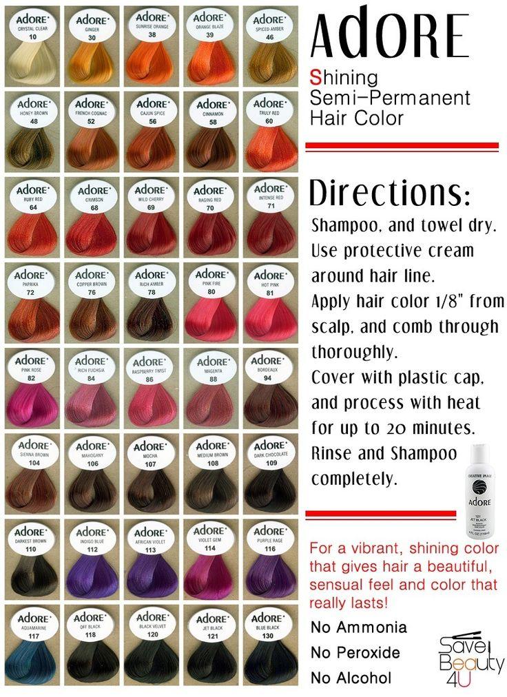 I use aquamarine adore hair color