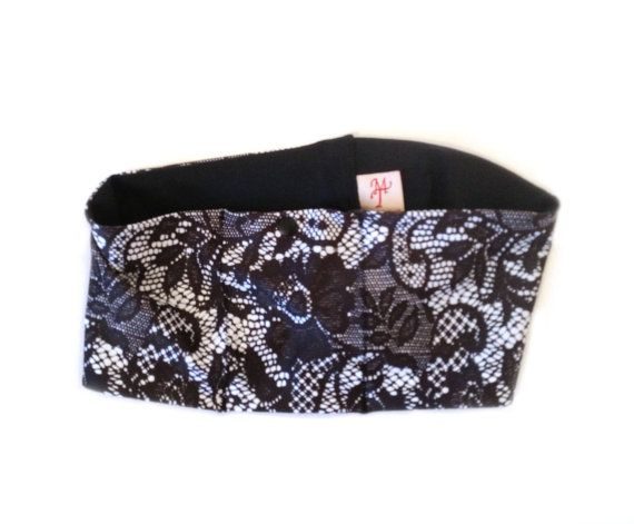 Black Lace Insulin Pump Waist Pouch by TraceyMichell on Etsy, £14.99