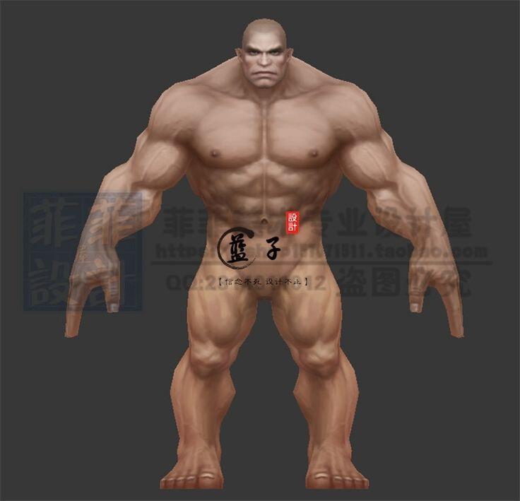 神魔大陆裸模人体人物角色模型 3D素材MAX源文件游戏源文件 设计-淘宝网全球站