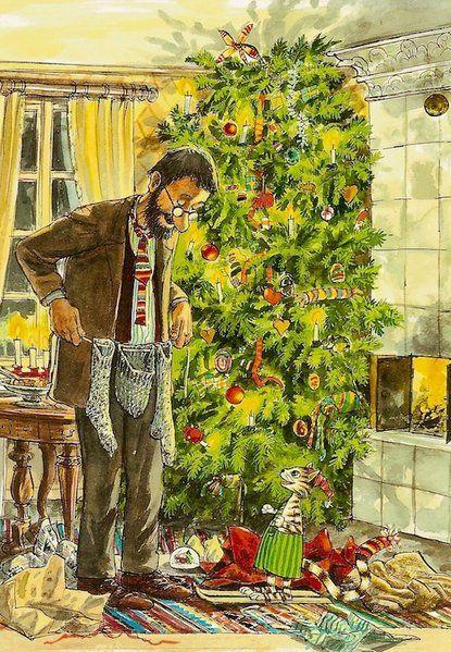Weihnachten bei Pettersson und Findus Illustration von Sven Nordqvist