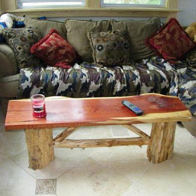 090380823c2aa7fc05215b4f0a982e14 Tree Slab Coffee Table Cedar Log Coffee Table Cabin Cocktail Lodge Rustic