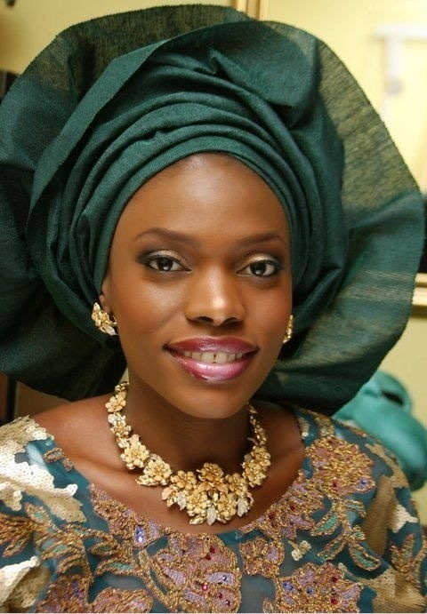 Emerald green and gold traditional engagement attire