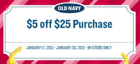 Old Navy Coupons Email