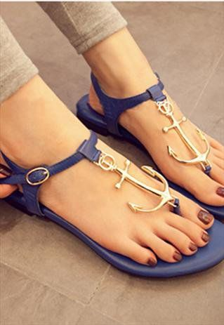 Blue Pattern Sandals from BAIANSY so amazing!