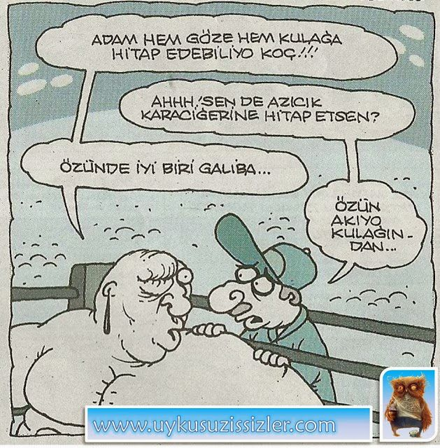 Karikatür: Adam hem göze hem kulağa hitap edebiliyo koç!!!