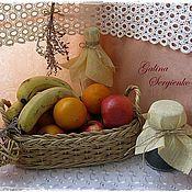 Для дома и интерьера ручной работы. Ярмарка Мастеров - ручная работа Корзина плетеная для фруктов. Handmade.