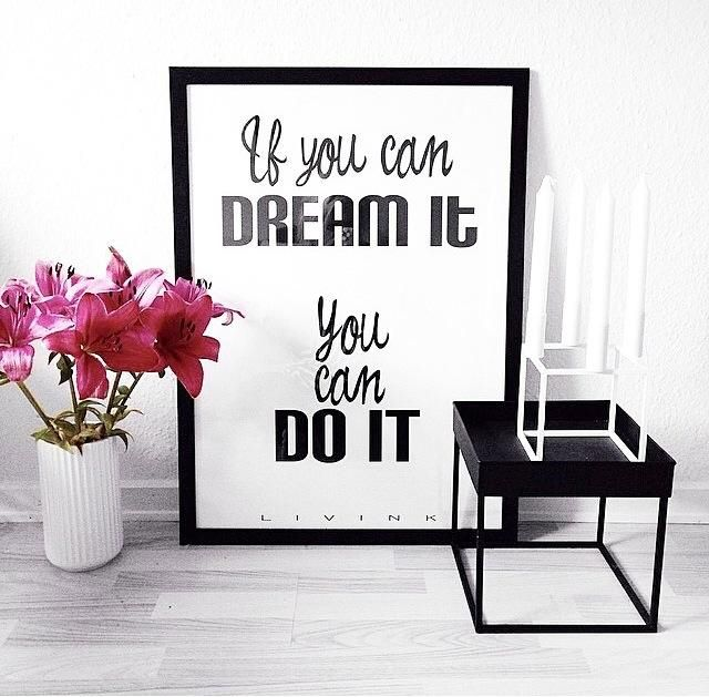 Dream it poster together With beautiful danish design