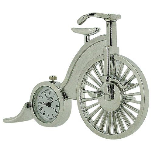 Miniature Retro Penny Farthing Novelty Ornamental Collectors Clock 9736