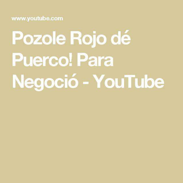 Pozole Rojo dé Puerco! Para Negoció - YouTube