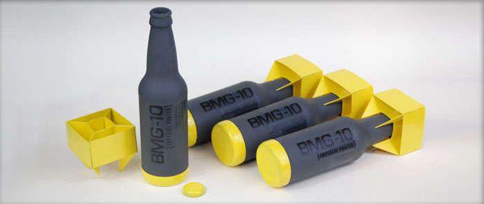 Ballistic Missile Branding : BMG-10 Beer Packaging