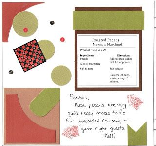 Cute layout ideas for #Scrapbook Recipe Cook Book - great DIY #Christmas gift idea!