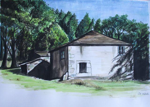 Pinturas e debuxos: A casa dos avós.