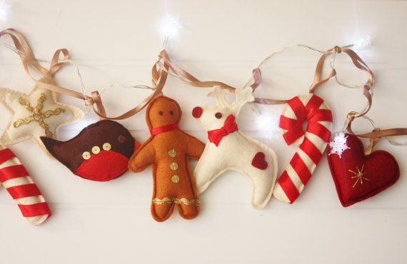 Christmas Decoration Snowflake fairy lights by ButtonOwlBoutique, £30.00