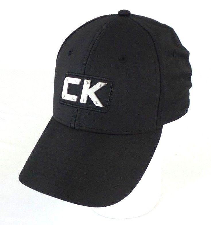 CALVIN KLEIN Mens CK Black Baseball Hat Cap Adjustable Strapback OSFM   CalvinKlein  BaseballCap 2465a52242c1