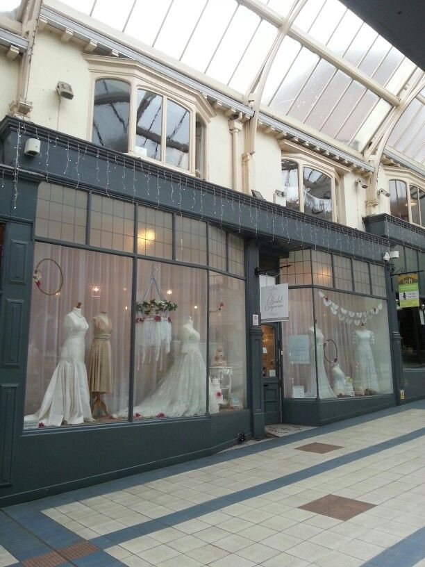 The Bridal Emporium, Leeds, England. Bridal shop specialising in bespoke wedding gowns, accessories and vintage. Visual merchandise, anthropology, window dressing.