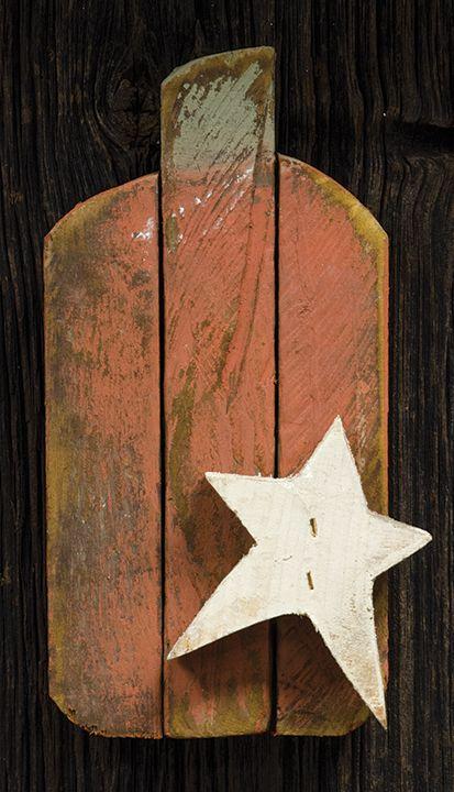 KP Creek Gifts - Small Lathe Pumpkin w/Star