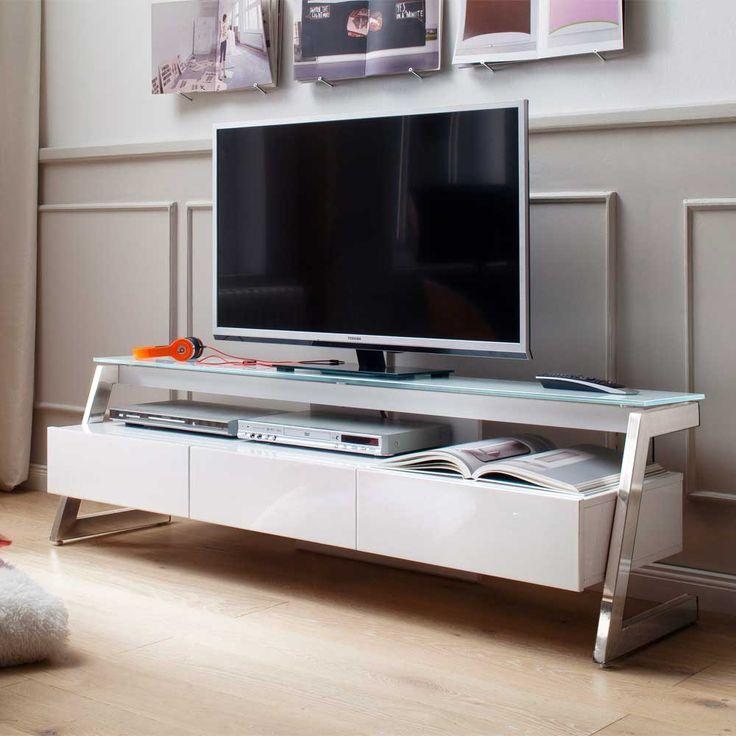 Die besten 25+ Moderne tv tische Ideen auf Pinterest faltbare Tv - wohnzimmer weis hochglanz