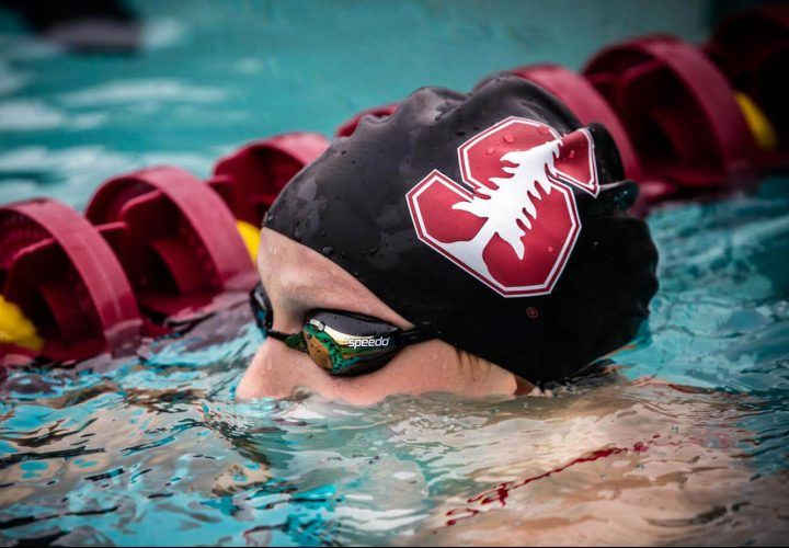 It's a new chapter for Katie Ledecky as a freshman on the Stanford women's team, but maybe not so much has changed after all.