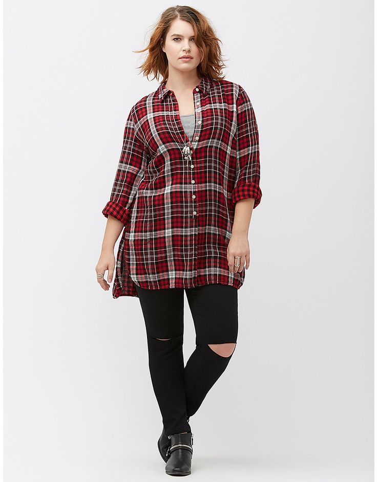 Get the best of both style and comfort wearing the Woolrich Eco Rich Twisted Rich Flannel II Tunic. Made from % cotton flannel, this tunic features upper chest pockets with flap and button, novelty sleeve placket, and back yoke with pleat detail. read more. See at shoes.