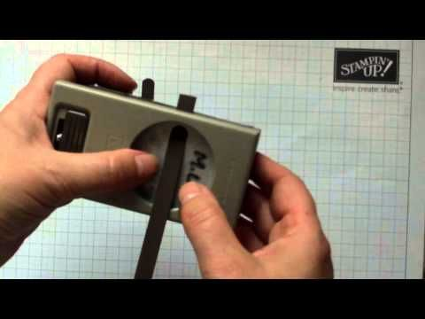 How to get an extended word window punch out using stampin up punches