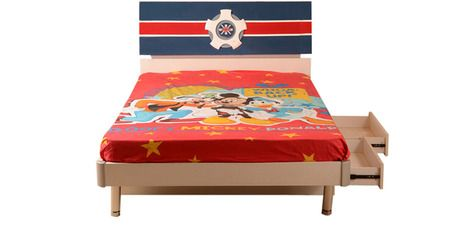 Here's a sailor single size kids bed with drawer storage from HomeTown