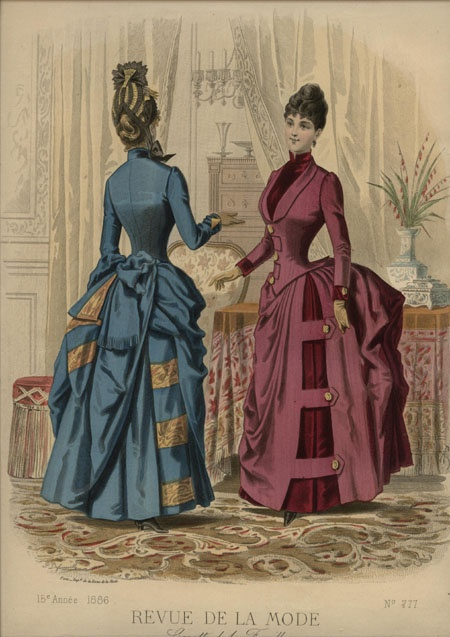 1886 la revue de la mode hand colored engravings 1870s 1880s drawings pinterest la. Black Bedroom Furniture Sets. Home Design Ideas
