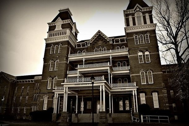 Oh, I've always wanted to visit the asylum parts. They're haaaaaaunted.  Athens Lunatic Asylum Athens OH .
