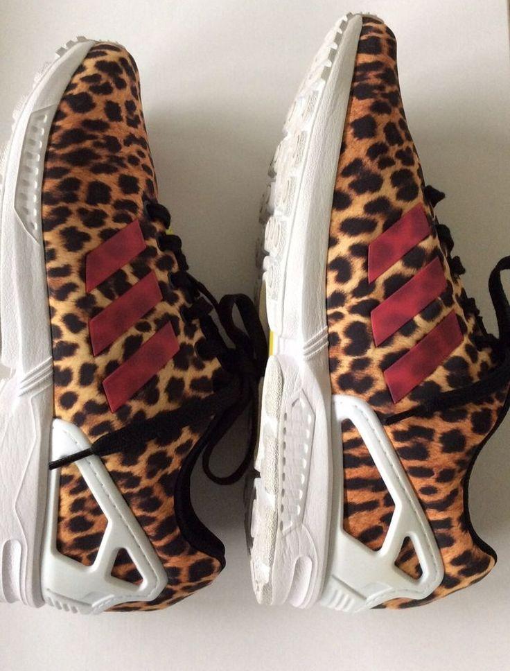Adidas Torsion ZX Flux women's running shoes size 10 leopard print  #adidas #Running